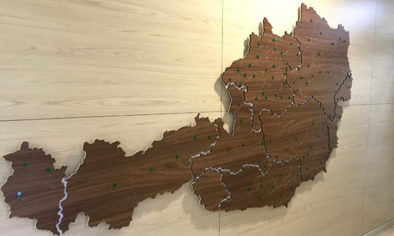 Österreichkarte im Detail